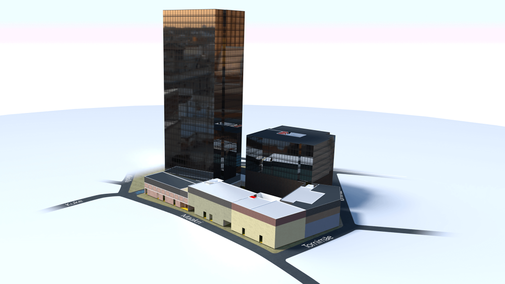 Office building wayfinding - A snapshot of the 3D Model of Maakri Quarter