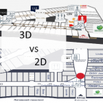 3D vs 2D floor plans in wayfinding