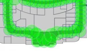 iBeacon coverage map