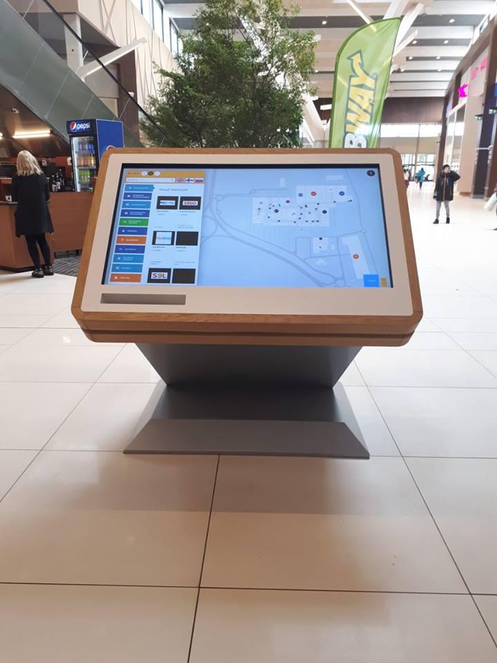custom wayfinding kiosk front panel