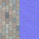 Texture and normal map